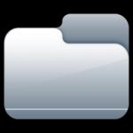 Pasta de prata fechado, ícone