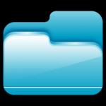 A pasta Aberta Azul, ícone
