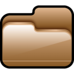 A pasta Aberta Brown Icon