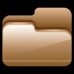 A pasta Aberta Brown Icon
