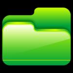 Pasta abrir o ícone Verde
