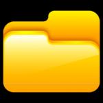 O ícone de pasta Aberta