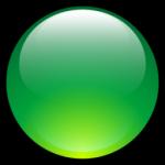 Ícone verde da bola do Aqua