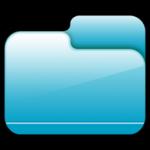 Pasta fechada ícone azul