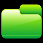 Pasta fechada ícone verde