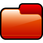 Pasta fechada ícone vermelho