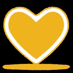 Amarelo Coracao Icone Ico Png Icns Icones Download