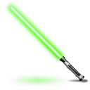 Qui Gon Jinns light saber icon